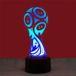 Оригинал  3D World Cup LED Night Light USB Touch Control / Дистанционное Управление 7 Цветной настольный светильник