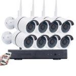 Оригинал Беспроводная система 8CH WIFI NVR камера Система На открытом воздухе Безопасность ночного видения для видеонаблюдения 960P IP камера