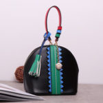 Оригинал Brenice Women Retro Mini-Shoulder Bag Tassel Handbag