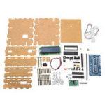 Оригинал DIY 3 кг Электроника Весы Кронштейн Набор 3 кг Взвешивание Датчик Акриловая оболочка