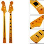 Оригинал 21 Frets Maple Wood 4 Strings Bass Electric Guitar JB Шея Для замены басового джазового стиля