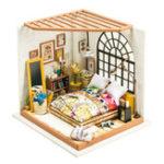 Оригинал Robotime DG107 DIY Кукла Дом Миниатюра с мебелью Деревянный Куклаhouse Игрушка Декор Craft Gift