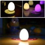 Оригинал USB перезаряжаемый RGB яйца Night Light Touch Control Прикроватная тумбочка Лампа для детей