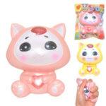 Оригинал Areedy Fox Squishy 10 * 9.5 * 5.5cm Медленный рост с подарком коллекции упаковки Soft Toy