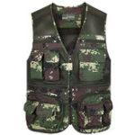 Оригинал На открытом воздухе Утилита Camo Multi Pockets Mesh Breathable Work Vest