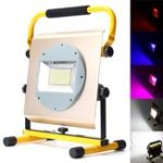 Оригинал 100W Портативный перезаряжаемый 100 LED RGB RGB Flood Spot Work Light Кемпинг Лампа