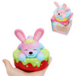 Оригинал Squishy Rabbit Bunny Cake Cute Slow Rising Toy Soft Коллекция подарков с Коробка Упаковка