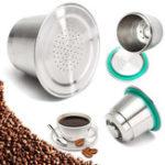 Оригинал Капсула из тонкой мельницы из нержавеющей стали Многоразовая многоразовая для Nespresso
