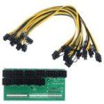 Оригинал 10pcs 6 + 2Pin Cable Breakout адаптер питания питания Набор для преобразования мощности сервера для горнодобывающей промышленности