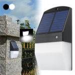 Оригинал 25 LED Солнечная Светильники Радар Датчик Белый / Теплый белый Водонепроницаемы Стена Лампа для На открытом воздухе Сад Забор
