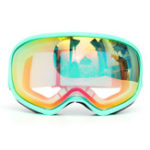 Оригинал Pro Skiing Goggles Double Объектив Анти Fog Snowboard Snowmobile UV Snow Sport Green