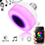 Оригинал E27 5W Phone Control LED Wireless Bluetooth RGB Music Play Speaker Stage Light Bulb AC100-240V