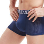 Оригинал Мужская быстрая сушка Sport Ice Silk Mesh Underwear Briefs Boxer