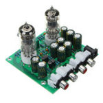 Оригинал Aassembled AC 12V 1A 6J1 Preamp Tube Preamp Amplifier Board PreAmplifier Module Pre-Amp Headphone Bile Buffer Stereo Bass HIFI X10-D