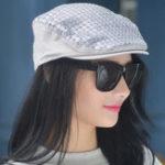 Оригинал Женское Платье Sequins Painter Beret Caps На открытом воздухе Flat Hats