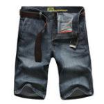 Оригинал Мужская Loose Cotton Stright Casual Black Джинсы Джинсовые шорты