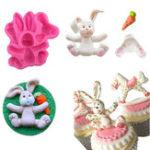 Оригинал 3DRABBITПасхальныйзаяцСиликоновыйФормовочные формы для выпечки торта M116 Cupcake Набор Кухонные принадлежности