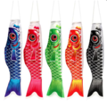 Оригинал 70CM Koi Nobori Carp Wind Sock Koinobori Fish Kite Flag Висячий декор