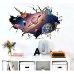 Оригинал Miico3DТворческийПВХстенынаклейки Главная Декор Mural Art Съемный Starry Sky Всемирная наклейка стены