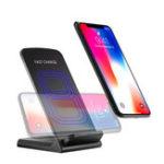 Оригинал 10W QI Wireless Charger Быстрая зарядная док-станция для док-станции для Samsung S8 Plus Galaxy Note 8 S7 S6 Edge