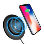 Оригинал FLOVEME5WQIБеспроводноезарядноеустройство с индикатором LED Легкий Charging Pad для iphone X 8 / 8Plus Samsung S8