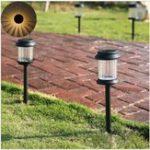 Оригинал  Теплый белый свет Водонепроницаемы LED Солнечная Lights Lawn Лампа для На открытом воздухе Пейзаж Ярд Палубный путь