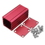 Оригинал Красный экструдированный алюминиевый проект Коробка Электронный корпус Чехол DIY Рассеивание тепла Набор 50 * 25 * 25 мм