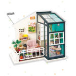 Оригинал Robotime DG-M05 DIY Doll House Miniature With Furniture Wooden Dollhouse Toy Decor Craft Gift