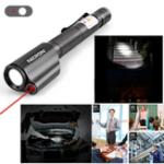 Оригинал NicronB24120LumensPortableРучкаShape Mini Red Лазер Указатель с рабочим светом LED Фонарик