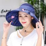 Оригинал Женское Летние сложенные широкоугольные солнцезащитные шлемы