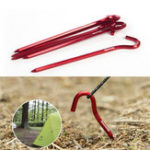 Оригинал Naturehike NH17D027-D 6Pcs Hook Tent Pegs 7001 Aluminium Alloy Nails Camping Stake Accessories