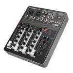 Оригинал 220V 4-канальный Профессиональный Live Studio Audio Mixer USB Bluetooth Консоль для микширования KTV Караоке