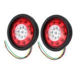Оригинал 19LEDТормозадлягрузовыхавтомобилей Тормозные огни Stop Turn Tail Лампа Сигналы о прекращении подачи черного резины