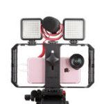 Оригинал Ulanzi U-Rig Pro 3 Держатель для обуви Смартфон Ручка для ручного стабилизатора видеоролика с подсветкой