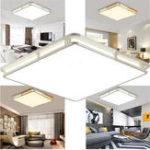Оригинал 24W 1000LM Современный квадратный акрил LED Светильник потолочного освещения для скрытого монтажа для спальни 110V-220V