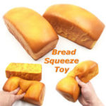 Оригинал Squishy Bread Cream Jumbo Scented Slow Rising Squeeze Strap Kids Toy