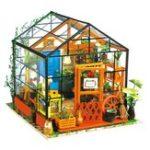 Оригинал Robotime DG104 DIY Кукла Дом Набор Cathy Flower Greenhouse Куклаhouse Подарочный декор