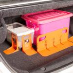 Оригинал L-shape PP Car Trunk Storage Baffle Multifunction Storage Box Fixed Holder Stand