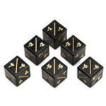 Оригинал  6 шт Gold Word Dice Counters -1 / -1 Многогранный набор костей Ролевые игры Игры Dices