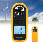 Оригинал Цифровой LCD Анемометр Термометр Тестер скорости ветра в воздухе