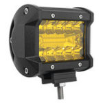 Оригинал ПараDC9-32VЖелтый4InchTri Row 20 LED Рабочее освещение Барное пятно Combo Лампа для Авто Внедорожник внедорожник
