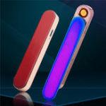 Оригинал Push Электрическая зажигалка USB перезаряжаемая ветрозащитная беспламенная сигарета Чехол Зажигалка