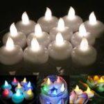 Оригинал 12pcs Беспламенный LED Свеча Tealight Батарея Работает Водонепроницаемы Свадебное Партийный декор
