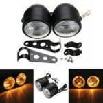 Оригинал Dual Twin мотоцикл Headlight Dominator Tracker Streetfighter Headlamp + Bracket