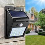 Оригинал Солнечная Мощность 20 LED PIR Движение Датчик Настенный светильник Водонепроницаемы На открытом воздухе Path Yard Сад Безопасность Лампа