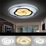 Оригинал 18W Modern Round Flower Acrylic LED Потолочные светильники Теплый белый / белый Лампа для гостиной AC220V