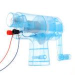 Оригинал Ручной ручной электрический генератор переменного тока Кристалл Модель Миниатюрный световой пучок Набор Science Experiment Kid