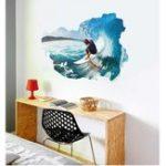 Оригинал Miico3DCreativeПВХстенынаклейки Home Decor Mural Art Съемный Серфинг стены наклейки