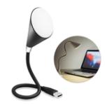 Оригинал Складная беспроводная телефонная гарнитура Bluetooth Dual Color LED Лампа USB-блок питания Настольный компьютер Лампа Музыка LED Лампа