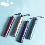 Оригинал LYZA Портативный 3 Folds Sunscreen Карандаш зонтик Дождь Umbrella Складной Sun Umbrella
